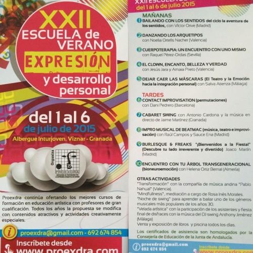 XXII Escuela de verano Expresión y Desarrollo Personal