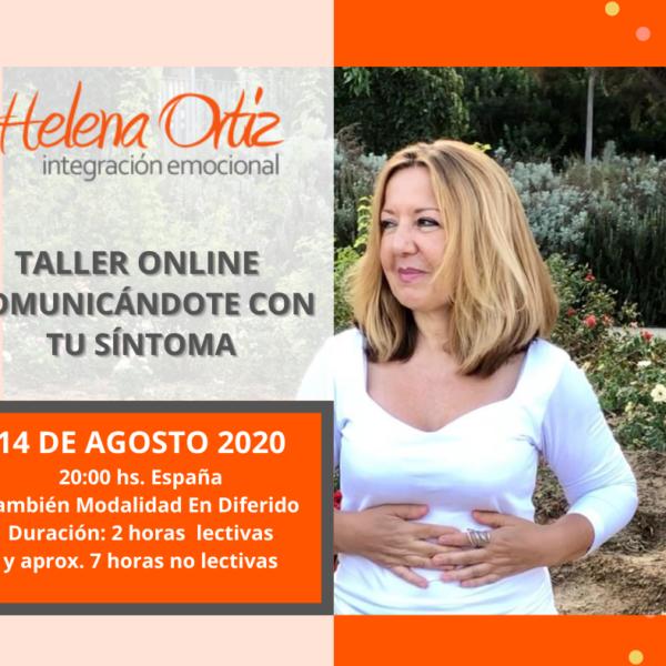 TALLER ONLINE: COMUNICÁNDOTE CON TU SÍNTOMA